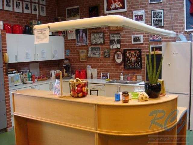 Kitchen in wrestling room